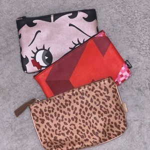 THREE FOR $6 MAKEUP BAGS